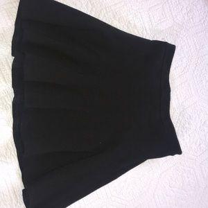 Black Pleaded mini Skirt
